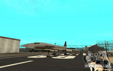 Concorde Air France für GTA San Andreas linke Ansicht