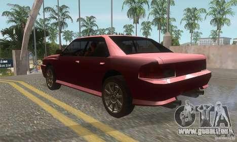 New Sultan HD für GTA San Andreas zurück linke Ansicht