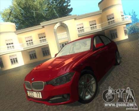 BMW 3 Series F30 2012 pour GTA San Andreas vue intérieure