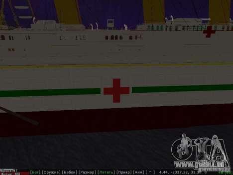 HMHS Britannic für GTA San Andreas rechten Ansicht