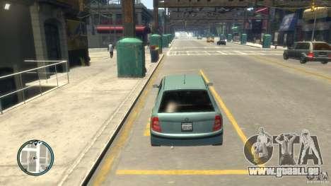 Skoda Fabia pour GTA 4 est une vue de l'intérieur