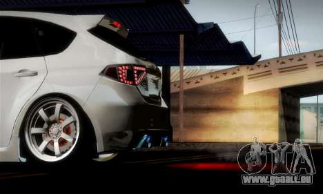 Subaru Impreza WRX Camber pour GTA San Andreas salon