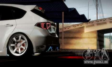 Subaru Impreza WRX Camber für GTA San Andreas Innen