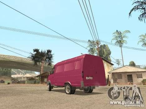 Gazelle 2705 pour GTA San Andreas salon
