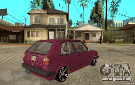 VW Golf 2 GTI pour GTA San Andreas vue de droite