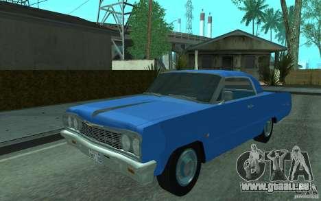 Chevrolet Impala SS 1964 pour GTA San Andreas laissé vue