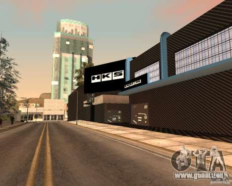 New HKS Style Tuning Garage pour GTA San Andreas