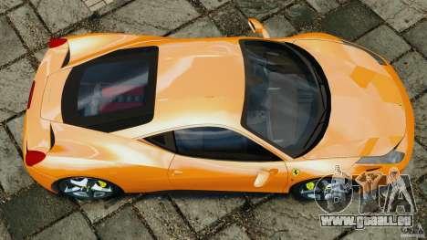 Ferrari 458 Italia 2010 v3.0 für GTA 4 rechte Ansicht