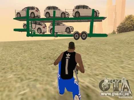 Car Transporter pour GTA San Andreas vue de droite