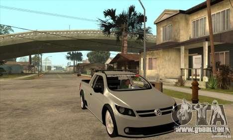 Volkswagen Saveiro G5 für GTA San Andreas Rückansicht