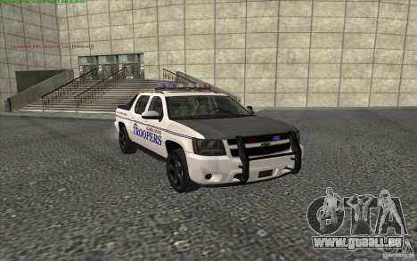 Chevrolet Avalanche Police pour GTA San Andreas
