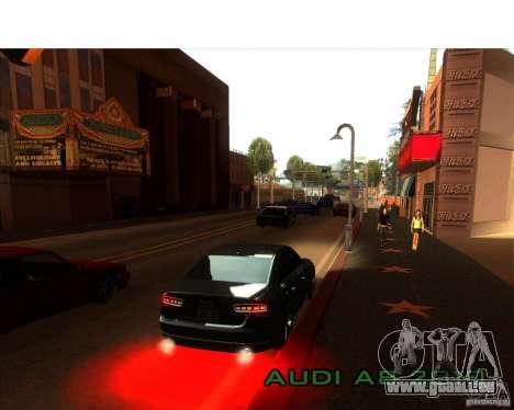 Audi A8 2010 pour GTA San Andreas vue intérieure