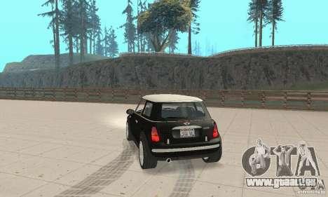 Mini Cooper Hardtop pour GTA San Andreas laissé vue