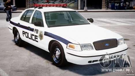 Ford Crown Victoria 2003 FBI Police V2.0 [ELS] für GTA 4 Unteransicht