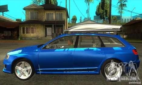 Audi RS6 Avant 2009 pour GTA San Andreas laissé vue