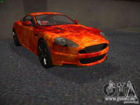 Aston Martin DBS pour GTA San Andreas vue intérieure