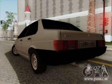 VAZ 21099 Drain pour GTA San Andreas laissé vue