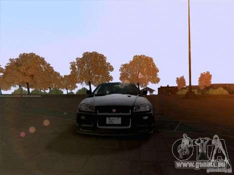 Nissan Skyline GTR R34 pour GTA San Andreas vue arrière