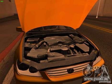 Lexus IS300 Taxi pour GTA San Andreas vue intérieure