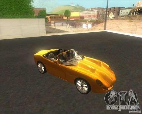 TVR Tuscan pour GTA San Andreas sur la vue arrière gauche