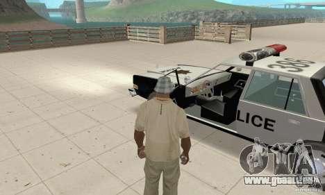 Dodge Diplomat 1985 Police für GTA San Andreas Rückansicht