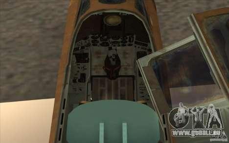 Die Su-25 für GTA San Andreas Rückansicht