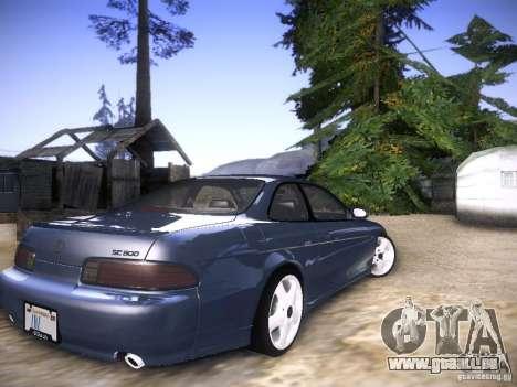 Lexus SC300 - Stock pour GTA San Andreas sur la vue arrière gauche