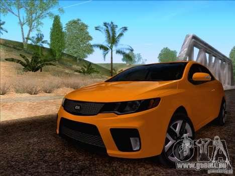 Kia Forte Koup SX für GTA San Andreas zurück linke Ansicht