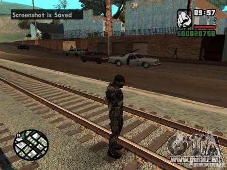 Crysis Nano Suit pour GTA San Andreas quatrième écran