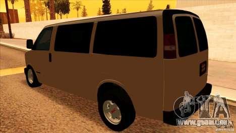 GMC Savanna 2500 pour GTA San Andreas sur la vue arrière gauche