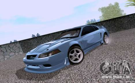 Ford Mustang SVT Cobra 2003 White wheels pour GTA San Andreas