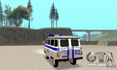 UAZ Police pour GTA San Andreas sur la vue arrière gauche