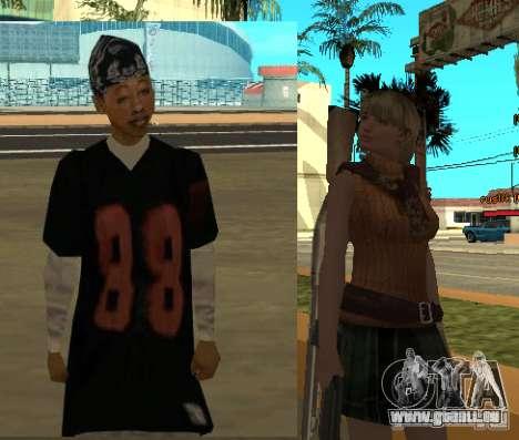 Pak personnages de Resident Evil pour GTA San Andreas sixième écran
