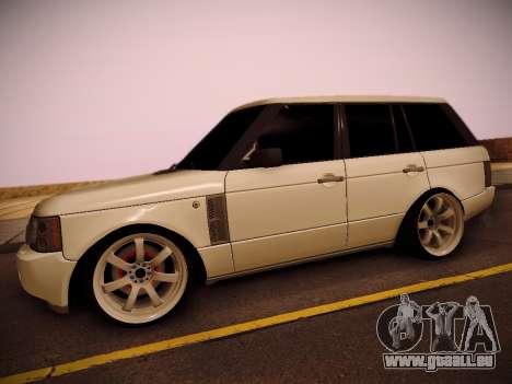 Land Rover Range Rover Supercharged 2008 pour GTA San Andreas sur la vue arrière gauche