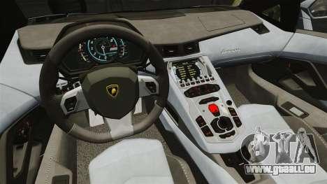 Lamborghini Aventador LP700-4 2012 v2.0 EPM pour GTA 4 est une vue de l'intérieur