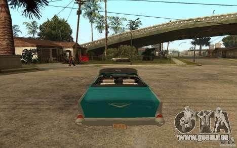Chevrolet Bel Air 1956 Convertible pour GTA San Andreas sur la vue arrière gauche
