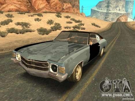 Chevrolet Chevelle Rustelle pour GTA San Andreas vue de dessous