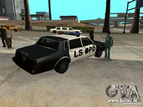 Tahoma Police pour GTA San Andreas sur la vue arrière gauche