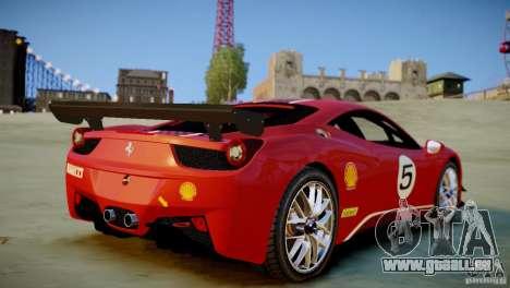 Ferrari 458 Challenge 2011 für GTA 4 hinten links Ansicht