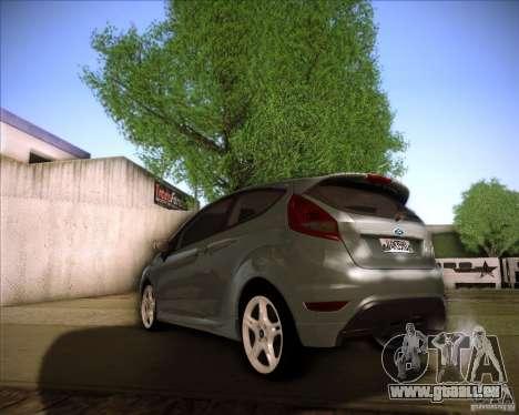 Ford Fiesta Zetec S 2010 pour GTA San Andreas sur la vue arrière gauche
