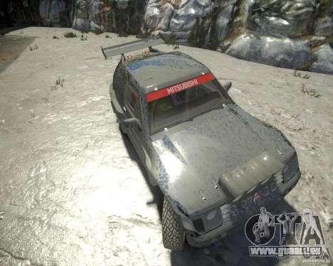 Mitsubishi Pajero Proto Dakar EK86 pour GTA 4 est une vue de l'intérieur