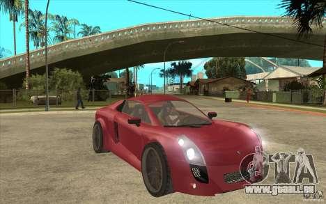Mastretta MXT für GTA San Andreas Rückansicht