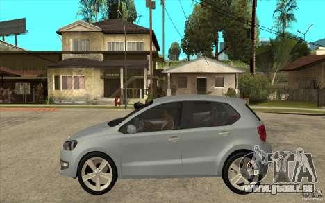 Volkswagen Polo 2011 pour GTA San Andreas laissé vue