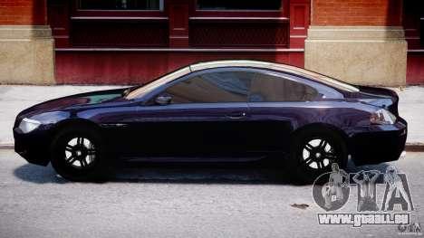 BMW M6 Orange-Black Bullet pour GTA 4 Vue arrière de la gauche