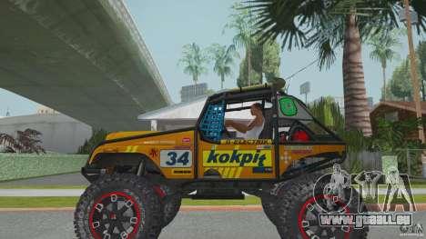 Jeep CJ-7 4X4 pour GTA San Andreas laissé vue