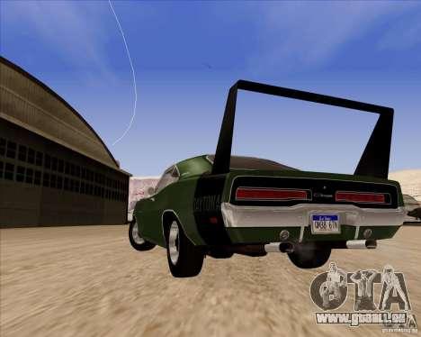 Dodge Charger Daytona 1969 für GTA San Andreas Rückansicht