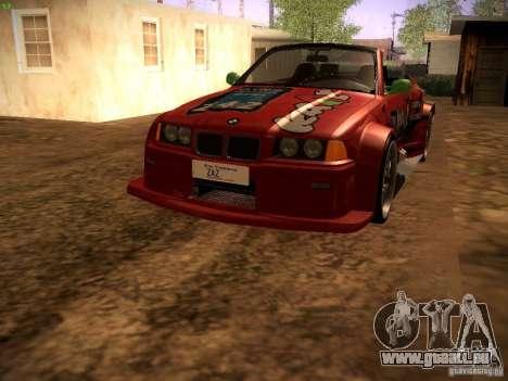 BMW M3 E36 pour GTA San Andreas vue de dessous