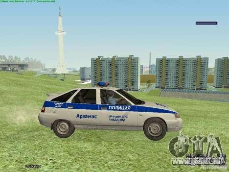 LADA 2112 DPS Police pour GTA San Andreas sur la vue arrière gauche