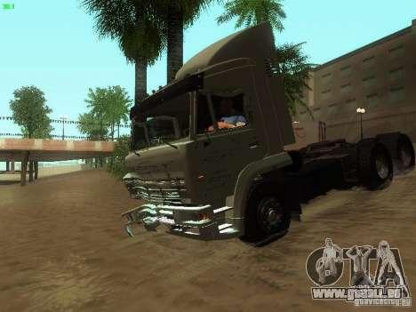 KAMAZ 6460 pour GTA San Andreas vue de dessus