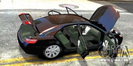 Toyota Camry V6 3.5 2007 pour GTA 4 Vue arrière